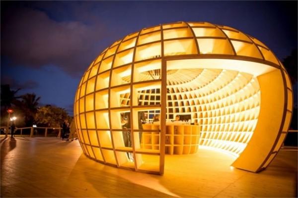 Креативный бар Guiro Art Bar Installation от Los Carpinteros