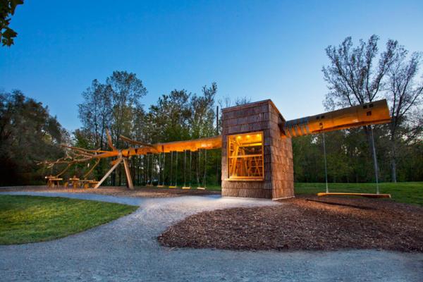 Функциональная парковая инсталляция Chop Stick от Visiondivision