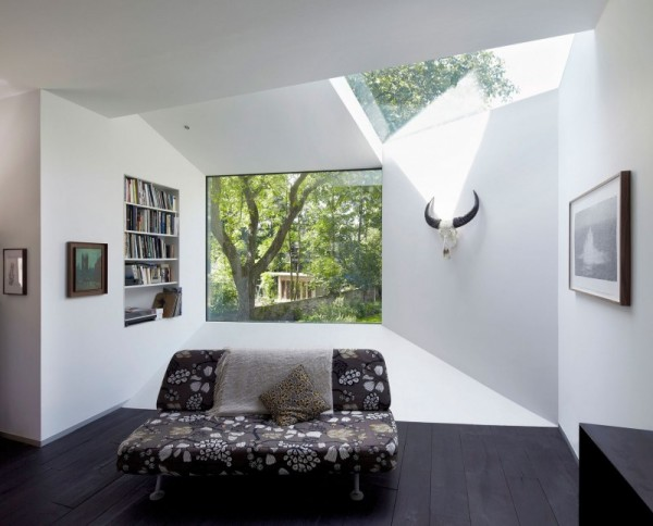 lens house 13 r Victorian Villa Added an Origami Like Extension: Lens House in London. lens_house_13 r.