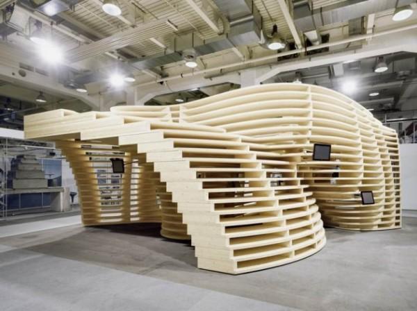 Lignum Pavilion – деревянный павильон от Frei + Saarinen Architects