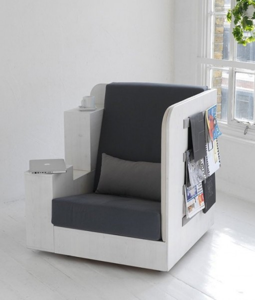 OpenBook: кресло-библиотека от британских дизайнеров
