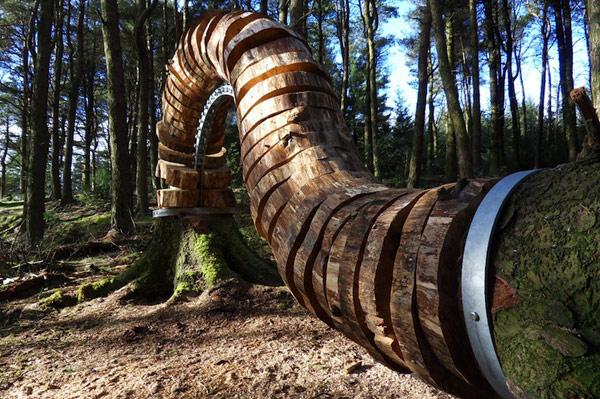 Органическая скульптура Pendle Sculpture Trail