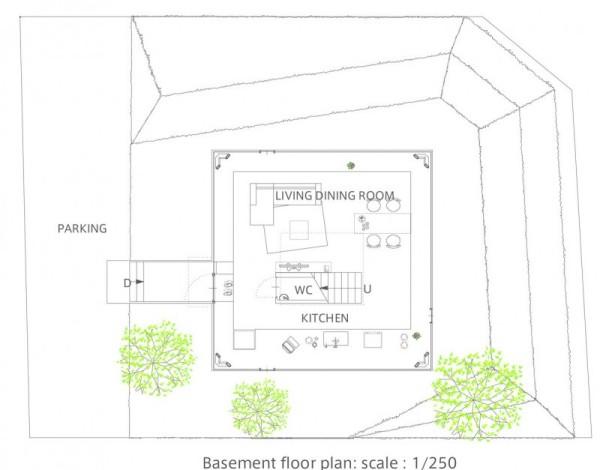 House in Saijo – современный пит-хаус от Suppose Design Office