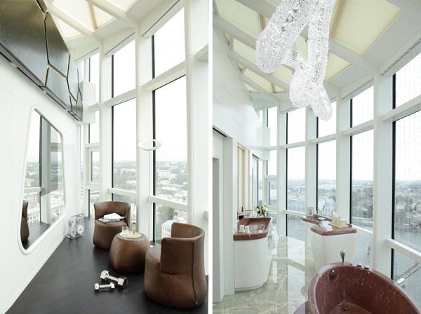 Футуристическая квартира в Санкт-Петербурге от nps tchoban voss