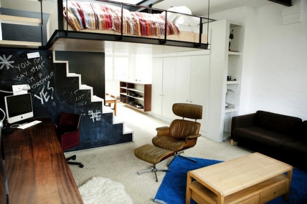 В современной лондонской квартире