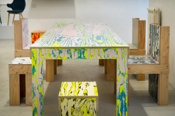 ColoRing: цветная мебель из фанеры от Schemata Architecture Office