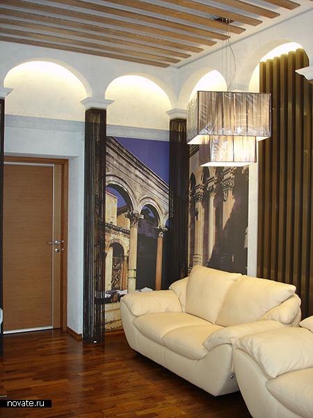 Кисея. Оформление декоративных колонн. © Артис