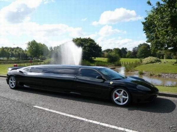 Лимузин Ferrari 360 Modena популярен на английских свадьбах