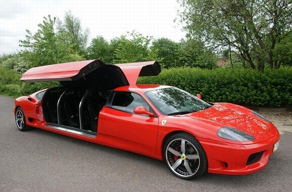 Лимузин Ferrari 360 Modena, выставленный на аукционе