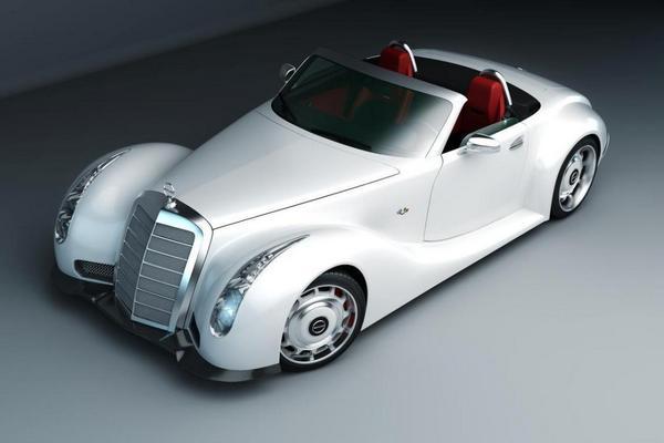Mercedes-Benz GWA 300 SLC вариант в белом цвете