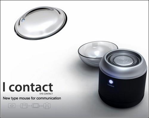 """Контактная линза-мышка """"I CONTACT""""."""