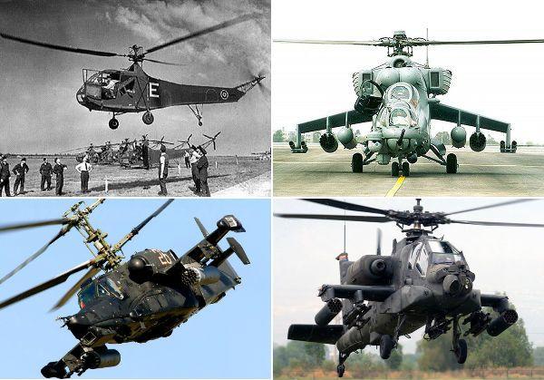 10 самых известных военных вертолётов.