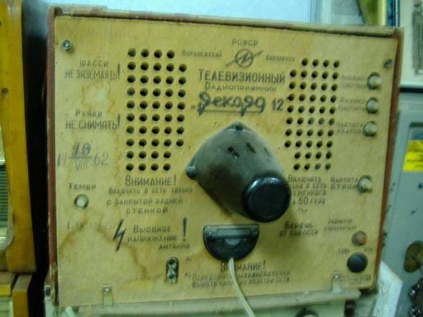 Задняя панель телевизора Рекорд.