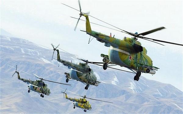 Ми-8 на боевом дежурстве.