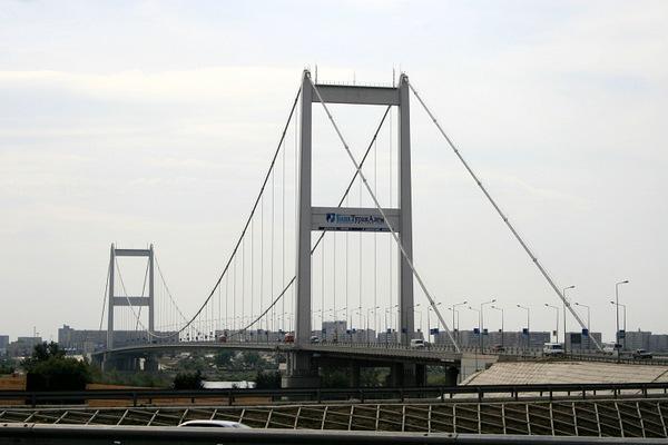 Подвесной мост в Семее.
