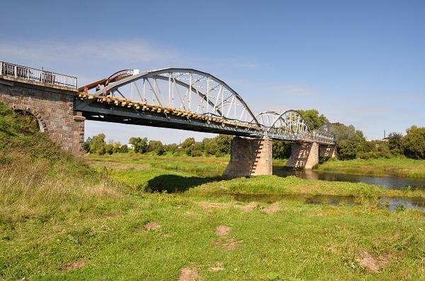 100-летний мост  белорусском городе Дисна