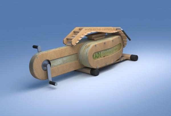 Оригинальная модель энергогенерирующего тренажёра