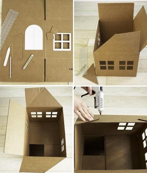 Этапы изготовления комика из картона.