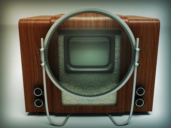 Советский электронный телевизор КВН-49.