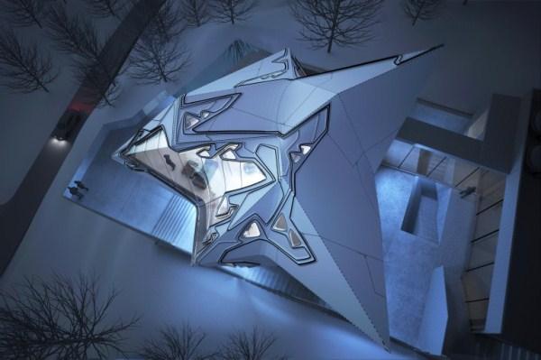 Дом, похожий на кристалл