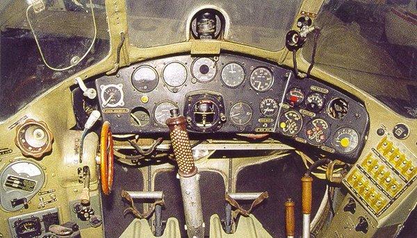 В кабине Ми-1.