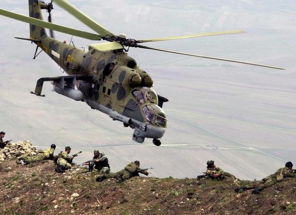 Ми-24 в Афганистане.