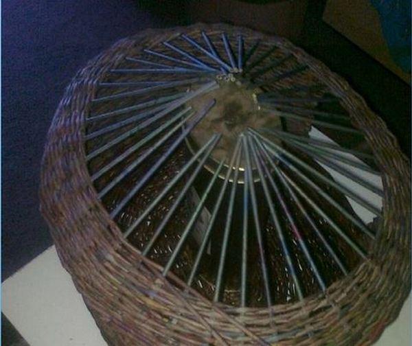 Шаг 4: плетение крыши.