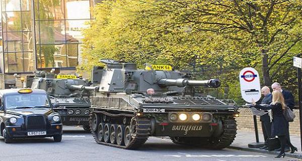 Такси-танк TANKSI (Лондон).
