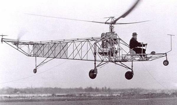 VS-300 - первый вертолёт Сикорского.