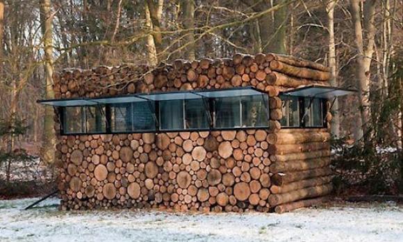 Лесной микро-дом в Нидерландах