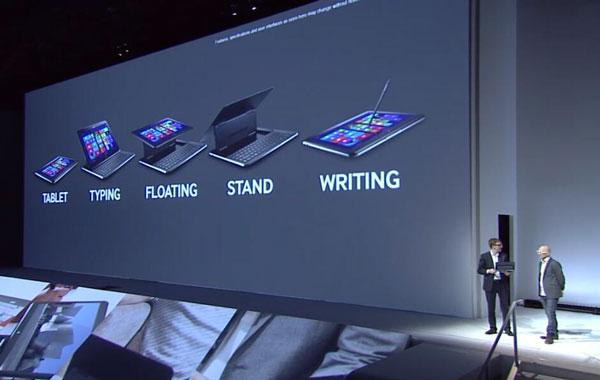 Компьютер Samsung  ATIV Q на презентации в Лондоне