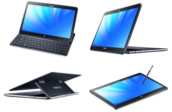 Samsung  ATIV Q - копмьютер-трансформер, параллельно работающий на Android 4.2.2  и Windows 8