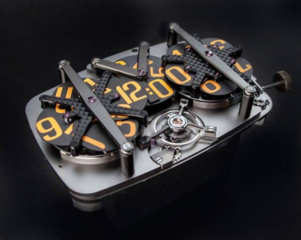 Гениальная дисковая конфигурация механических наручных часов 4N-MVT01.