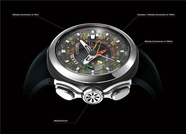 Часы Eco-Drive Altichron-Cirrus: на земле, в небе и под водой
