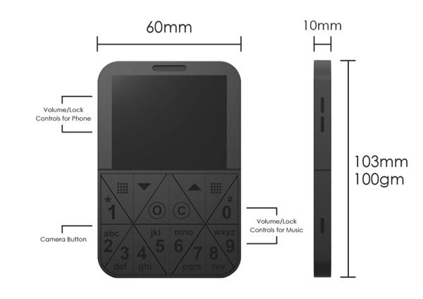 Концепт Cels - компактный мобильник, но не смартфон