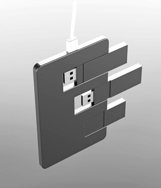 Концепт Detach: внешний SSD диск и USB Flash накопитель в одном устройстве