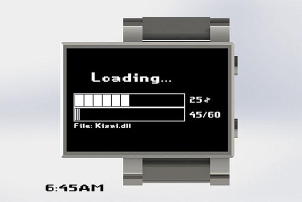 Часы Loading: время загружается...