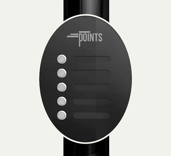 Меню Points очень простое и очень функциональное