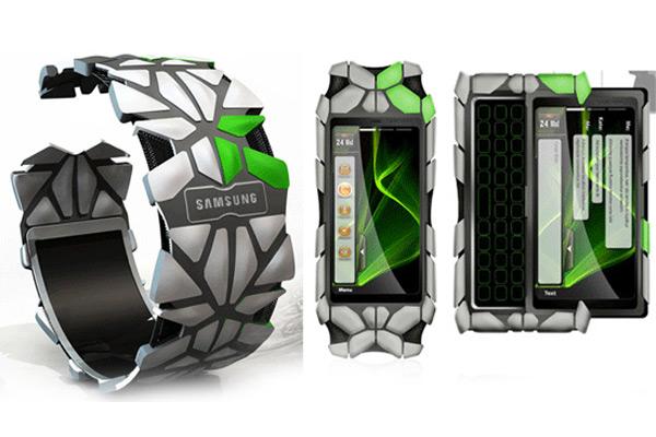 Концепт смартфона-браслета 2010 от Samsung