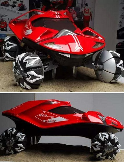 Citroen Dakar - концепт гоночного автомобиля от Chu Hyung Kwon