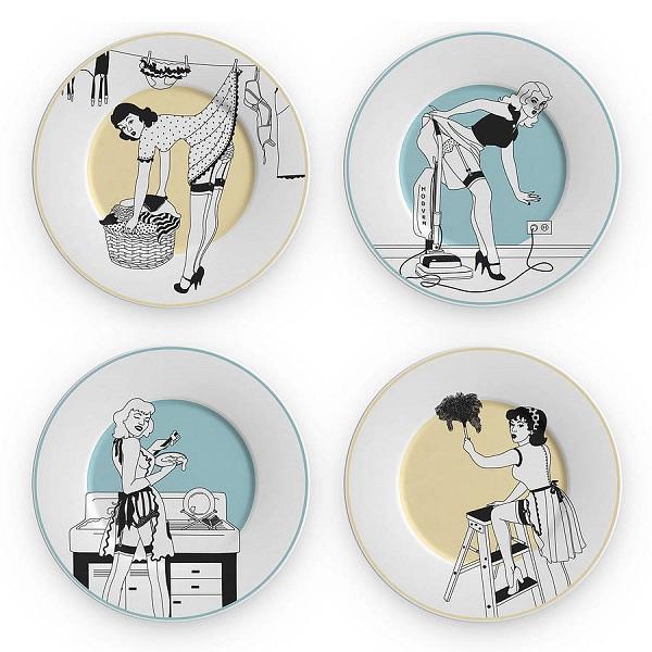 "Набор тарелок из серии ""Домохозяйки 50-х"""