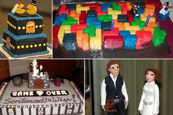 Необычные свадебные торты для геймеров