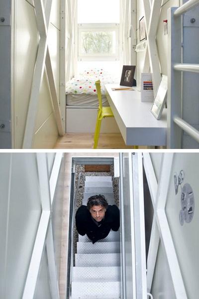 Keret House - самое узкое в мире жилое помещение от польского архитектора Jakub Szczesny
