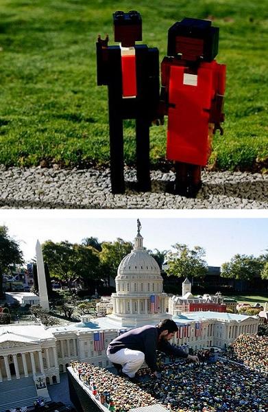 Сцена инаугурации Барака Обама от дизайнеров из Lego