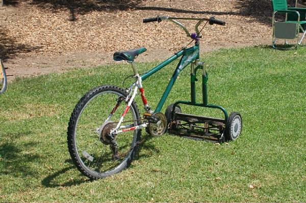 Велосипед+газонокосилка