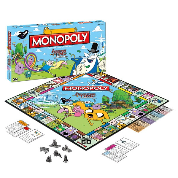 Adventure Time Monopoly – одна из лучших игрушек-новогодних подарков для детей от 7 лет