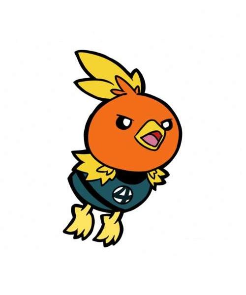 Angry Birds в костюме Human Torch от телеканала Bite