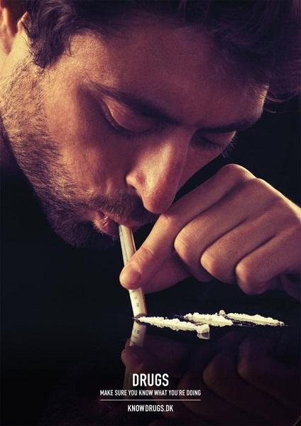 Make sure you know what you're doing - социальная реклама против наркотиков, взывающая к здравому смыслу