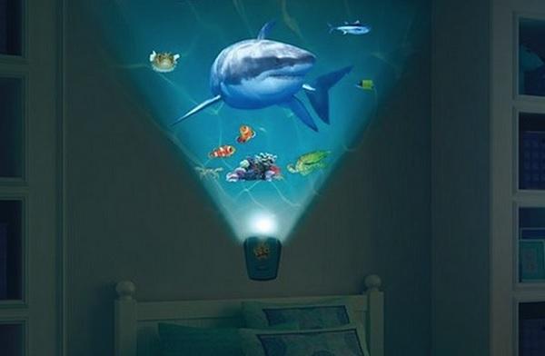 Wild Walls Shark Encounter – креативный светильник-проектор для детских комнат