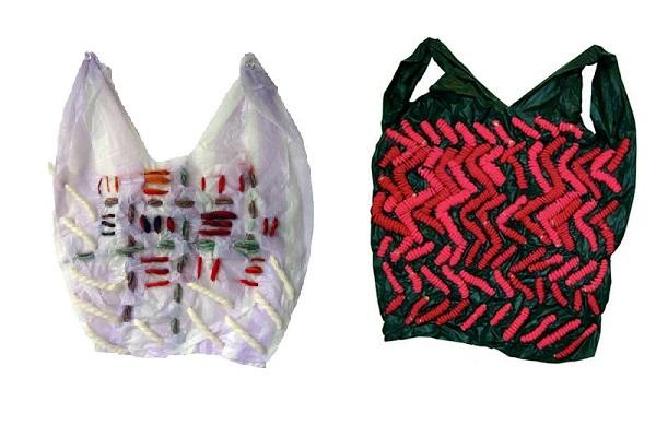 Дизайнерские эко-сумки из порванных пластиковых пакетов от Josh Blackwell